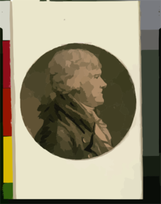 [thomas Jefferson, Head-and-shoulders Portrait, Facing Right] Clip Art