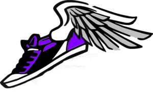 Running Shoe With Wings Clip Art at Clker.com - vector ...