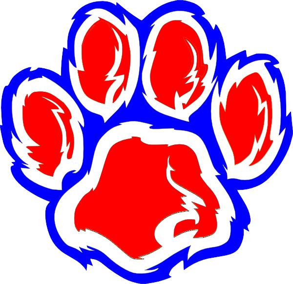 wheeler wildcat paw clip art at clker com vector clip art online rh clker com