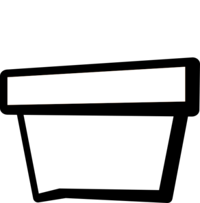 Flower Pot Outline Clip Art