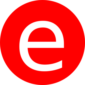 Red, Rounded, With E Clip Art