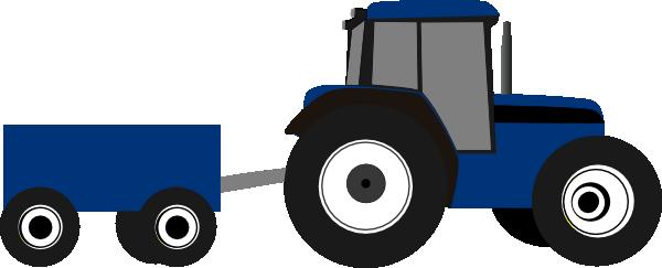 Small Tractor Cartoon : Blue tractor clip art at clker vector