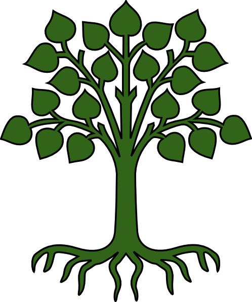clipart family tree with roots - photo #31