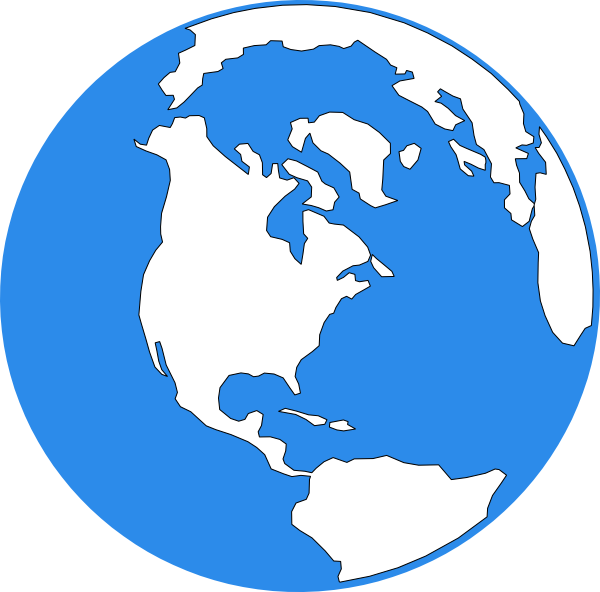 Blue earth icon clip art at clker vector clip art online download this image as publicscrutiny Image collections