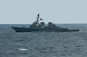 Uss Curtis Wilbur (ddg 54) Participates In Exercise Keen Sword 03 Off The Coast Of Southern Japan. Clip Art