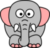 Cartoon Elephant Grey Pink Clip Art