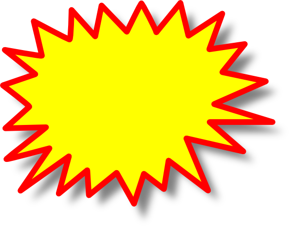 yellow starburst clipart - photo #14