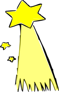 Shooting Star(colored) Big Clip Art