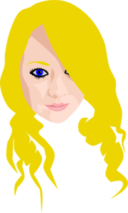 Blonde With Blue Eyes Clip Art
