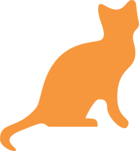Orange Cat Silhouette Clip Art