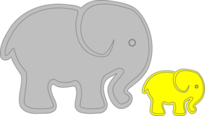 Adult Elephant With Baby Elephant Clip Art