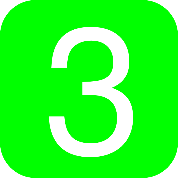 Green  Rounded  Square With Number 3 Clip Art At Clker Com