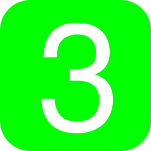 Green, Rounded, Square With Number 3 Clip Art at Clker.com ...