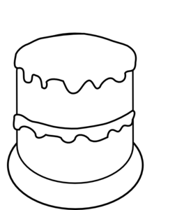 Cake To Color3 Clip Art