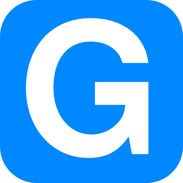 G  Blue Alphabet G, G Let...
