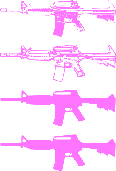 pink machine gun