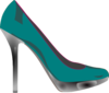 Teal Stilletos Clip Art
