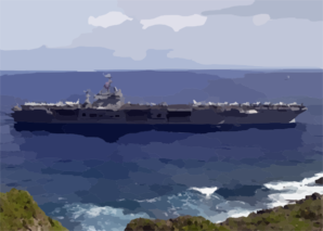 The Aircraft Carrier Uss Carl Vinson (cvn 70) Enters Apra Harbor During Its First Ever Port Call To Guam Clip Art