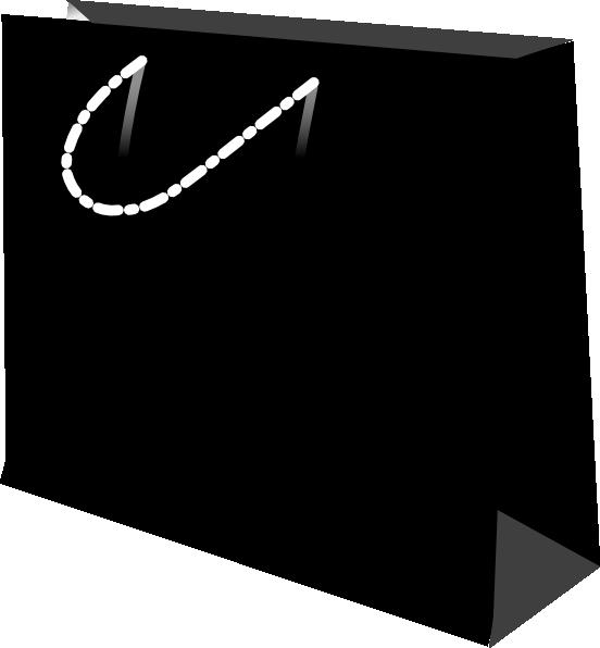 Black Shopping Bag Clip Art at Clker.com - vector clip art online ...