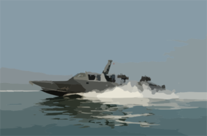 Naval Special Warfare Combatant-craft Crewmen Operate A Mark V Special Operations Craft Clip Art