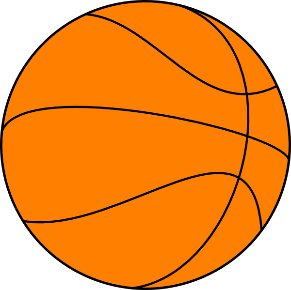 big basketball clip art at clkercom vector clip art