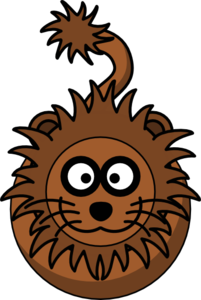 Lion Without Legs Clip Art