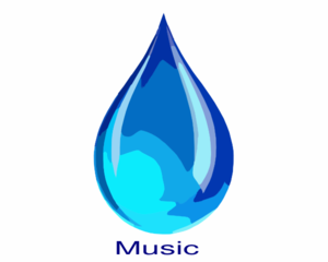 Water Drop Music Clip Art