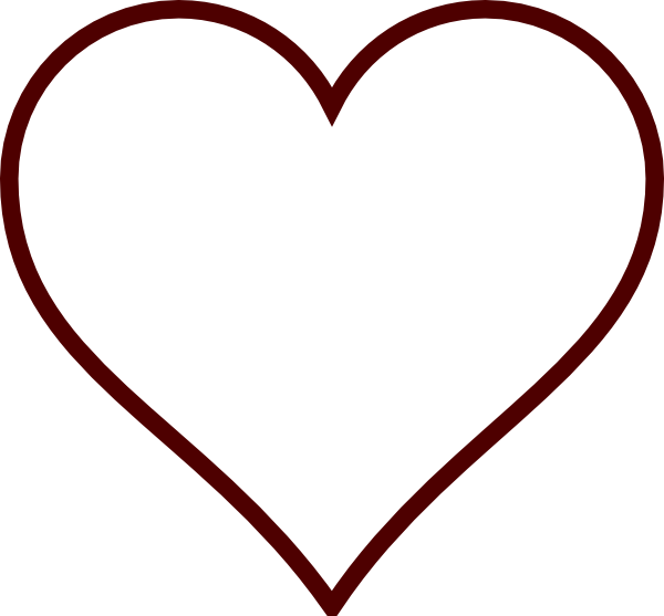 White Heart Clip Art at Clker.com - 25.9KB