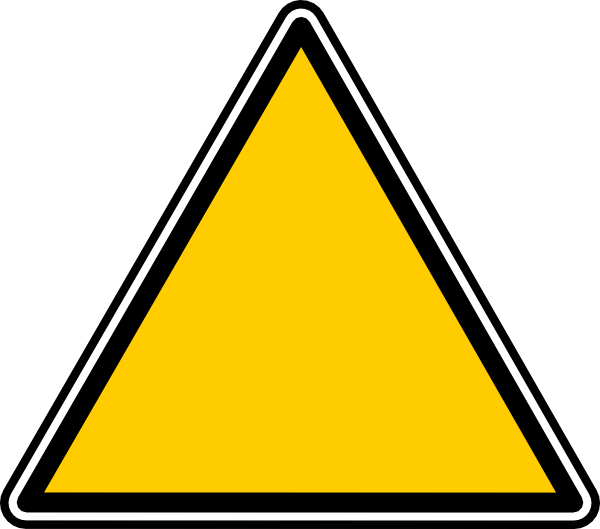 Empty Warning Symbol Clip Art at Clker.com - vector clip ...
