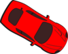 Red Car - Top View - 330 Clip Art