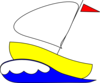 Number 4 Sailboat Clip Art