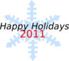 Happy Holidays Snowflake Clip Art