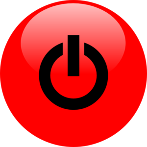 Power Red With Black Icon Clip Art