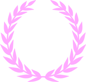 Laurel Pink Wreath Clip Art