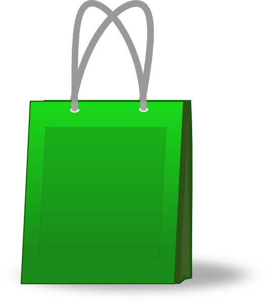 Green Shopping Bag Clip Art at Clker.com - vector clip art ...