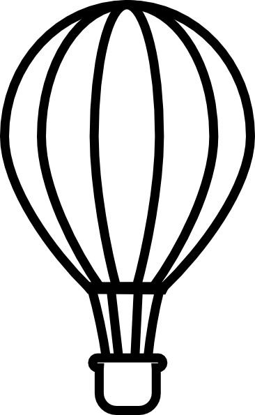 Hot Air Balloon Black Clip Art At Clker Com Vector Clip Art Online