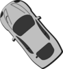 Gray Car - Top View - 130 Clip Art