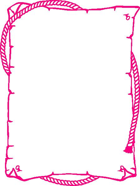 pink rope border clip art at clker com