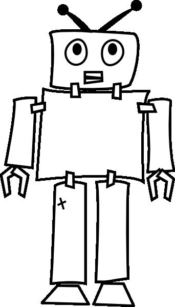 Robot Outline Clip Art At Clker Com Vector Clip Art Online Royalty Free Public Domain