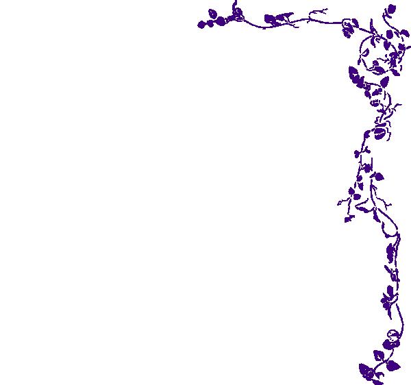 vine border purple clip art at clkercom vector clip art