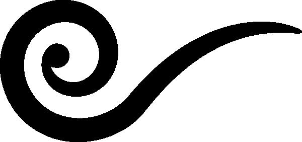 Black Swirl Wind Clip Art at Clker.com - vector clip art ...