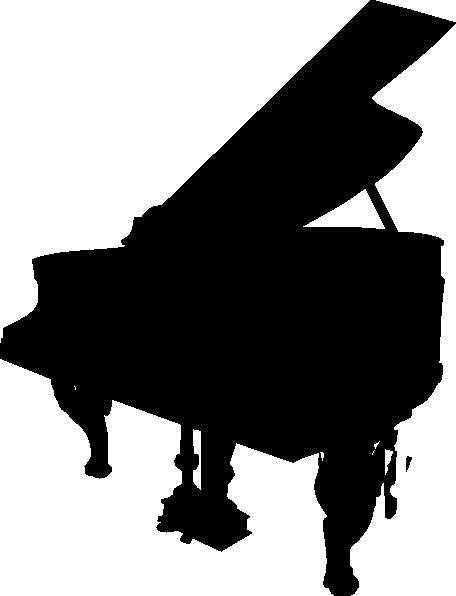 Black piano silhouette clip art at clker com vector clip art online