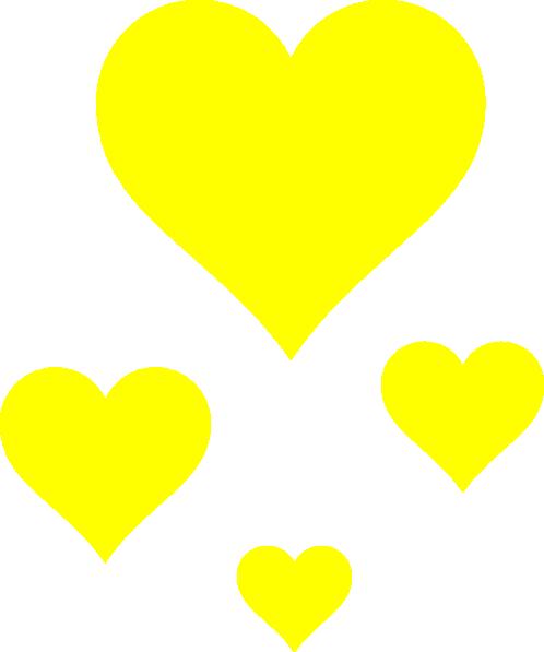 clip art yellow heart - photo #13