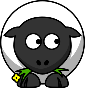 Sheep Looking Right Clip Art