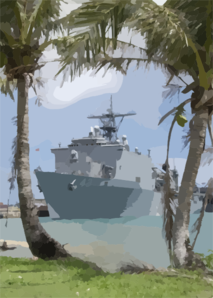 The Amphibious Dock Landing Ship Uss Ft. Mchenry (lsd 43) Crew Spends A Couple Of Days On Liberty In Guam. Clip Art