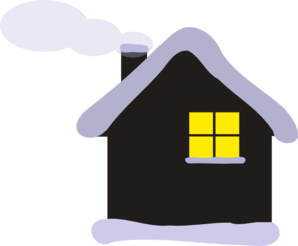 Winter Cottage Clip Art