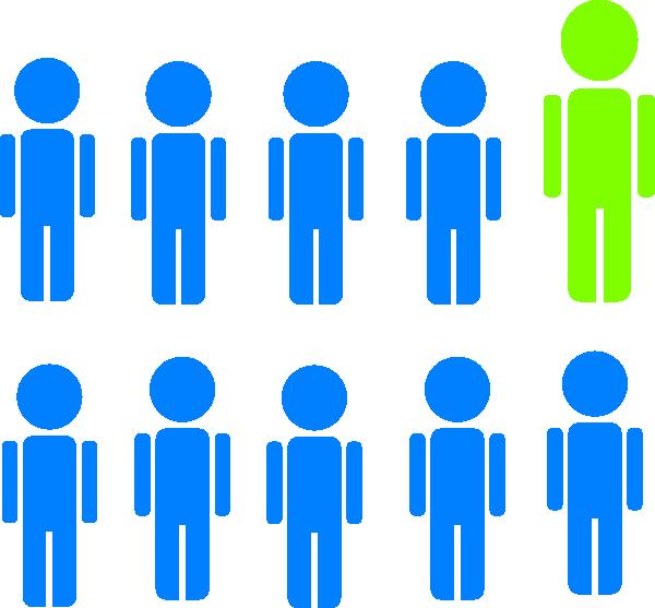 1 in 10 people statistic clip art at clker com vector clip art rh clker com