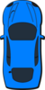 Blue Car - Top View - 90 Clip Art