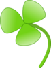 Three Leaves Clover Clip Art