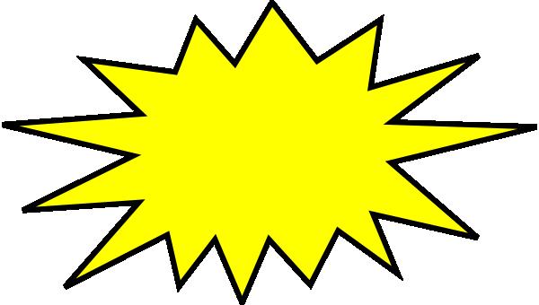 yellow blast clip art at clker com vector clip art online royalty rh clker com blast clipart images blast clipart images